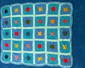 Colorful crotchet baby blanket