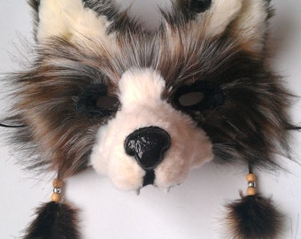 Currently unavailable - Spirit/Totem Animal Mask (Brown Wolf) (see below for details)