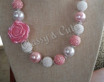 Pretty in Pink Chunky Necklace