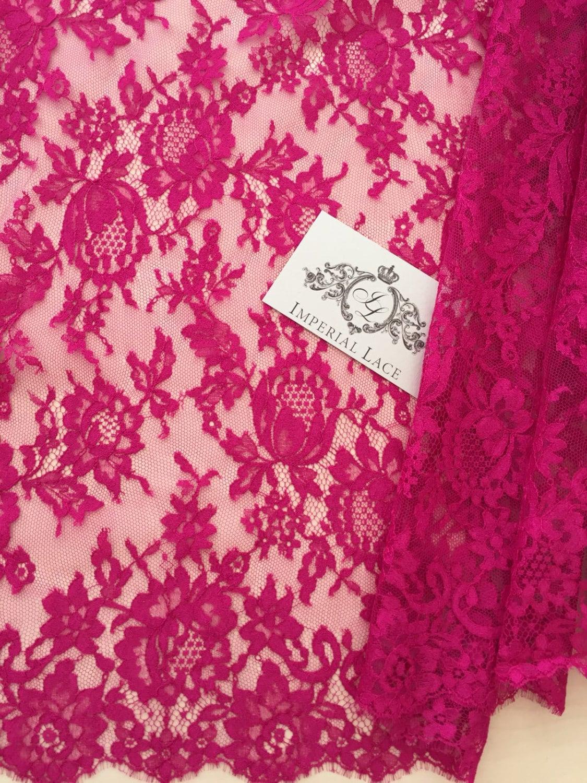 Pink lace fabric, French Lace, Bridal lace, pink Lace ...