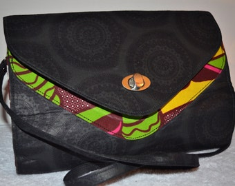 """African Print Sling bag/ Cross body bag with Detachable straps. """"Doyinsola"""" Collection."""