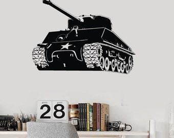 Wall Art Mural Tank Battle Military Army Force Cool Decor 2294di