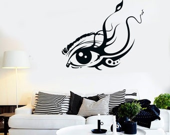 Wall Vinyl Decal Eye Abstract Tree Bedroom Romantic Decor 2319di