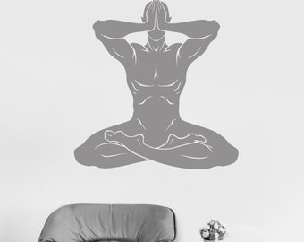 Wall Vinyl Decal Yoga Om Meditation Zen Buddhism Decor 2388di