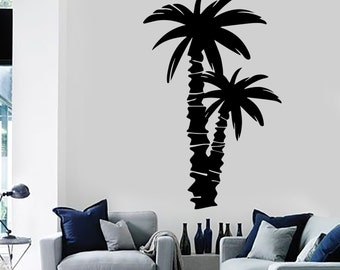 Wall Decal Palm Coconut Tree Branch Nature Vinyl Sticker Art 1422dz