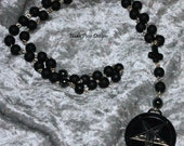 "Stainless Black 1.5"" Baphomet"
