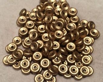 Wheel Beads, 6mm, Aztec Gold, 01710, 10 Grams, Czech Glass