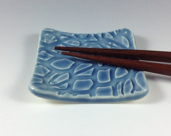 Blue Spoon Rests,Ceramic Spoon Rests,  Ceramics and Pottery, Kitchen Accessories, Chop Stick Holder, Ring/Earring Holder