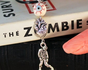 I Love Zombies (Eye Heart Zombies) Necklace