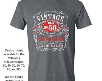 50th Birthday Gift For Men and Women - Vintage 1966 Aged To Perfection Mostly Original Parts T-shirt Gift idea. 50 Year Old Birthday