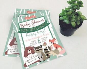 Tiny Woodland Creatures Printable Invitation