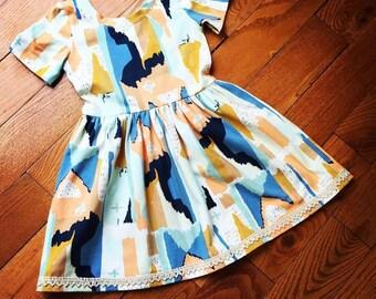 Girls boho  knit dress, summer knit outfit, comfort and stylish dress, bohemian girls dress