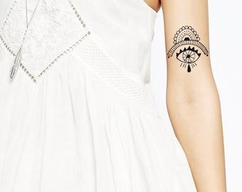 Boho Eye tattoo Pattern Tattoo Temporary Tattoo wrist ankle body sticker fake tattoo