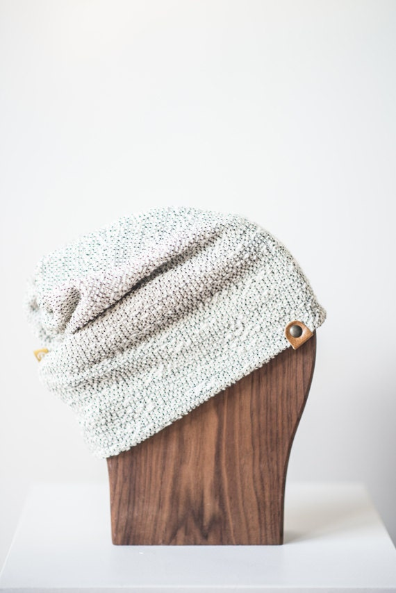 ALOUETTE - autumn hat with prints for baby and kids: boys and girls - Knit white