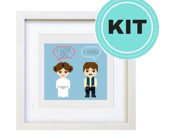 I Love You, I Know - Cross Stitch Kit