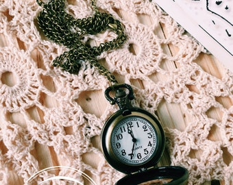 Pocket Watch Necklace- Antique Watch Necklace