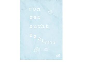 Zon zee zucht Zzz I Ansichtkaart/Postcard