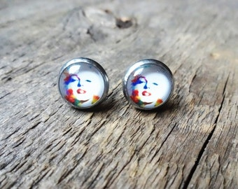 Marilyn monroe earrings, earrings marilyn monroe, marilyn monroe jewelry, Stud Earrings, Stud Earrings, stud 12mm, boho chick