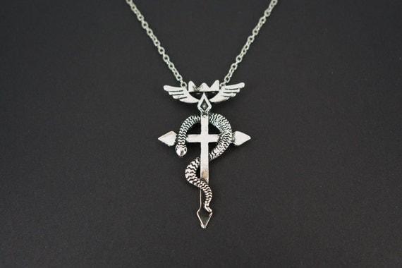 fullmetal alchemist inspired flamel pendant by geekmepretty
