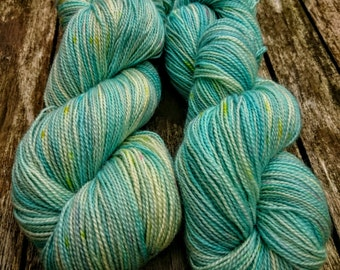 Time for Tea, hand dyed BFL fingering high twist yarn