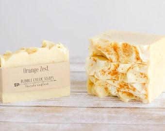 Orange Zest- Cold Process Essential Oil Soap