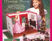 Barbie Fashion Doll Carry and Play - Dining Room Plastic Canvas Pattern - The Needlecraft Shop #933746