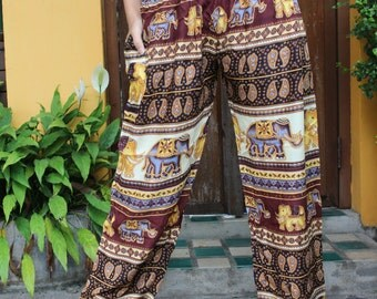 Hippie clothing Bohemian Pants Yoga Pants Elephant pants limited