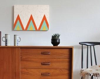 modern wall art, mid century modern art, minimalist art, geometric art, Scandinavian art, scandinavian modern, retro art, 60s, triangle art