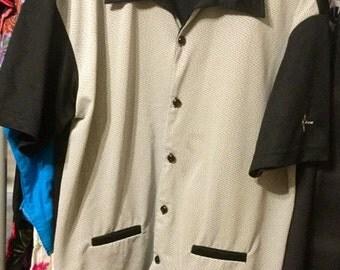 Men's Shirt //  Rockabilly Shirt //  Vintage shirt // BC Ethic Vintage Rockabilly Lounge Shirt