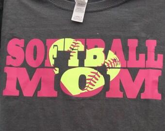 Custom Softball Mom Tee