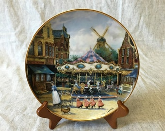 """Franklin Mint Collectors Plate """"Carousel Adventures"""" by Sandi Lebron"""