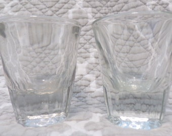 Set of 2 crystal shot glasses - mid-century - unmarked