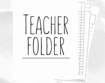 Teacher Binder // Lesson Plans // Grade Book // Monthly Calendar // Checklists // Teaching // Printable // Elementary // Middle High School