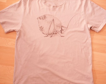 Leaf Insect T-Shirt - 100% Organic Cotton Hand Drawn