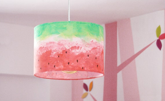 Nursery lamp shade fruit ceiling lampshade kids light for Nursery ceiling light fixture