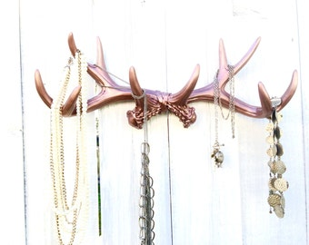 Faux Deer Antler Decor - Headband Holder Organizer - Hunting Nursery Decor - Necklace Organizer - Faux Taxidermy - Wall Necklace Holder