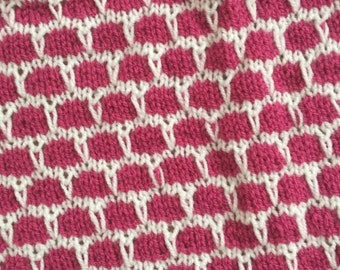 Baby blanket pink/white