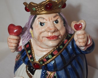Queen of Hearts Fitz and Floyd Cookie Jar