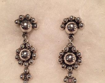 Sterling Vintage Drop Earrings
