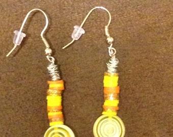 Sun spiral dangle Earrings