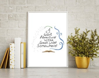Belle Beauty and the Beast Disney Princess Lyric Poster