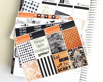 Erin Condren Halloween Stickers - Halloween Collection - Halloween Stickers - 6 Sticker Sheets