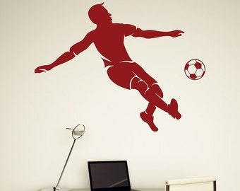 Soccer Kick Vinyl Wall Decal