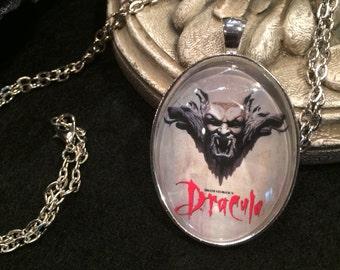 1992 Horror Classic Movie Poster of Bram Stoker's Dracula Bronze or Silver Pendant Necklace Gothic Gargoyle Horror Vampire