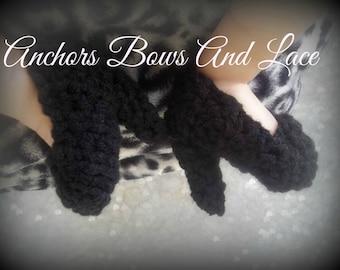 Best Seller!!!~~Those little black heels- hand crocheted baby girl high heel booties/ high heel baby shoes/ crocheted crib shoes/ baby heels