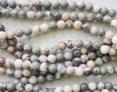 6mm Pink Zebra Jasper Round Beads Natural Beads Semi Precious Gemstones