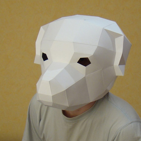 make your own dog mask rottweiler mask papercraft party mask