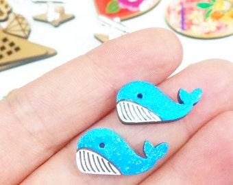 tiny whales for your ears // sweet stud earrings