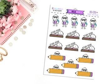 School Time Beedoo BD-019 | 16 Planner Stickers