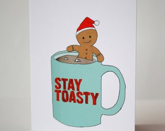 Holiday card : Stay toasty.
